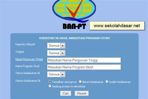 Surat Keterangan Akreditas by Cara Cek Status Akreditasi Melalui Ban Pt