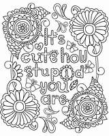 Pages Coloring Journal Adult Ups Grown Swear Printable Snarky sketch template
