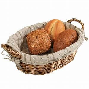 Artisan Small Wicker Cracker/Bread Basket with Linen Liner