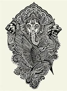 Ganesha, black & white | Arts & Illustrations | Pinterest ...