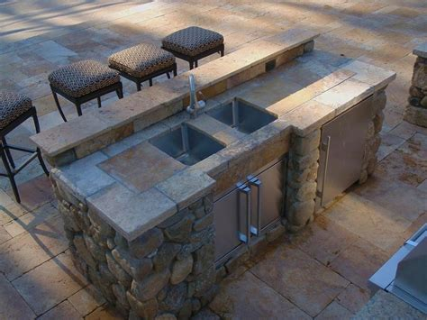 best outdoor sink material so i finally get to build me an outdoor kitchen patio