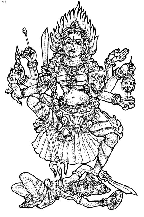 hindu goddesses coloring page  pinterest