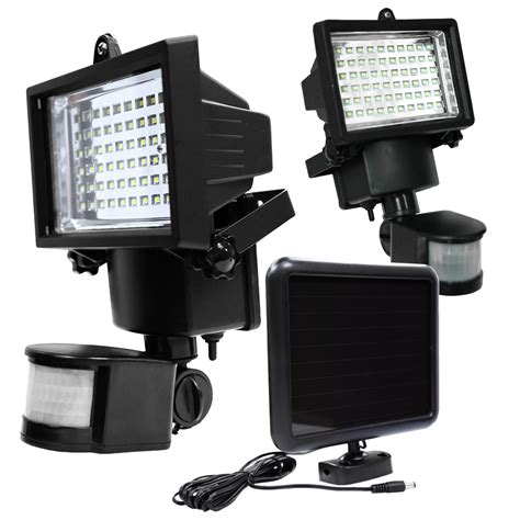 led solar powered motion sensor security flood light
