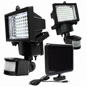 led solar powered motion sensor security flood light With outdoor garage lights with camera