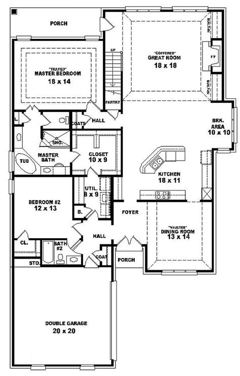 #654287 One and a half story 4 bedroom 3 bath french