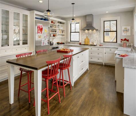 Crystal Kitchen Island Lighting Brightens Boston Residence