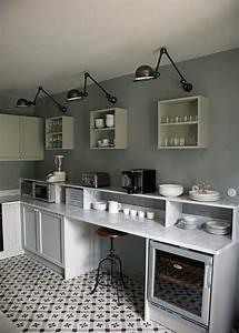 carreaux ciment plan de travail en marbre cuisine With attractive quelle couleur pour le salon 8 un plan de travail en marbre dans la cuisine