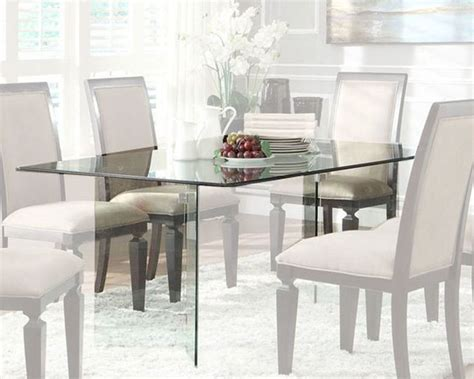rectangle dining room table homelegance rectangle glass dining table alouette el 17813