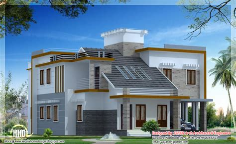 1900 sq. feet modern contemporary mix home design - Kerala