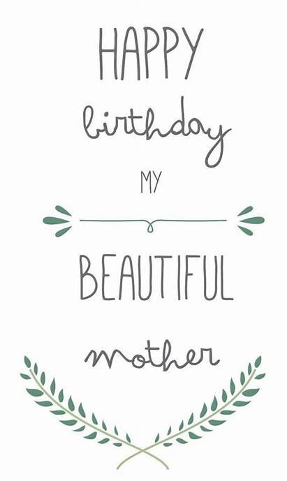 Birthday Card Mother Mom Printable Happy Diy