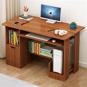 Computer, Desk, Table, Workstation, Home, Office, Furniture, With, Shelf, Wood, Study, Writing, Desk