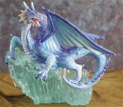 Blue Dragon on Crystal Rock