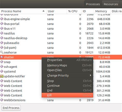 Ubuntu Resume Process Terminal by 4 Ways To Kill Unresponsive Applications In Ubuntu