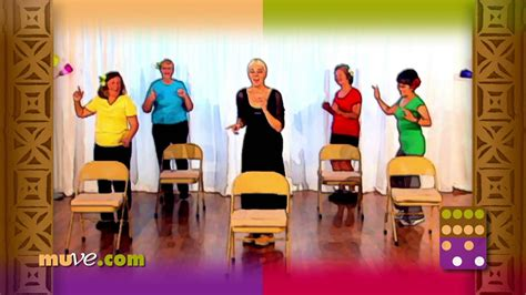 Senior Fitness Exercises Behind A Chair