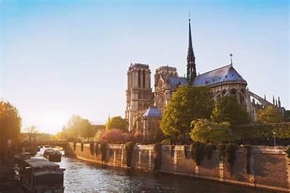 Paris Dame Notre Sunset River Discovering Magic