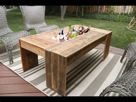 rustic pallet wood coffee table  drink cooler youtube