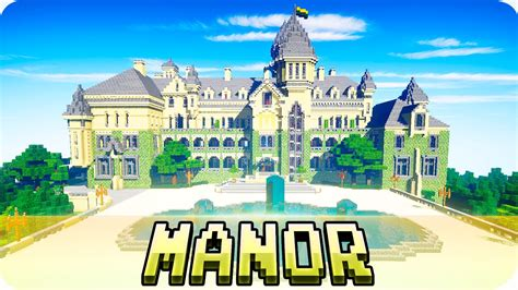 minecraft luxury manor house  cinematic  youtube