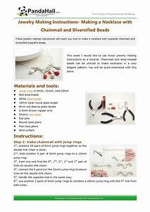Jewelry Making Instructions Making A Necklace With