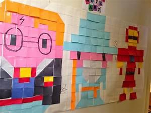 Post It Art : librarian on display crafts post it note art ~ Frokenaadalensverden.com Haus und Dekorationen