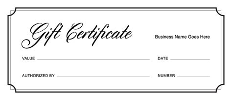 gift certificate templates   gift