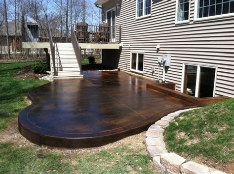 staining concrete patio 18 stained concrete patio designs ideas design trends