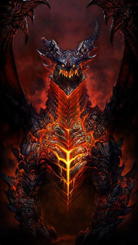 Deathwing World Warcraft Htc One 1080x1920 Wallpaper