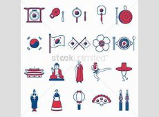 Free South korean general icons Vector Image 1624251