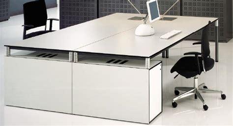 meubles de bureau design mobilier bureau design bureau blanc laqué pas cher lepolyglotte