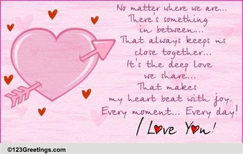 long distance love  poems ecards greeting