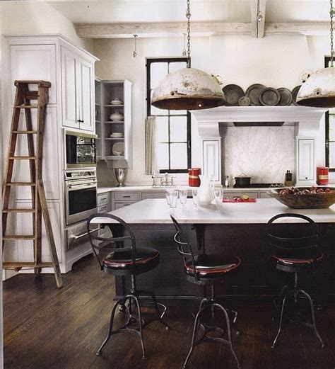 rustic industrial lights in the kitchen kitchen