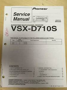 Pioneer Service Manual For The Vsx