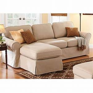 Better homes and gardens slip cover chaise sectional for Who sells sectional sofa covers