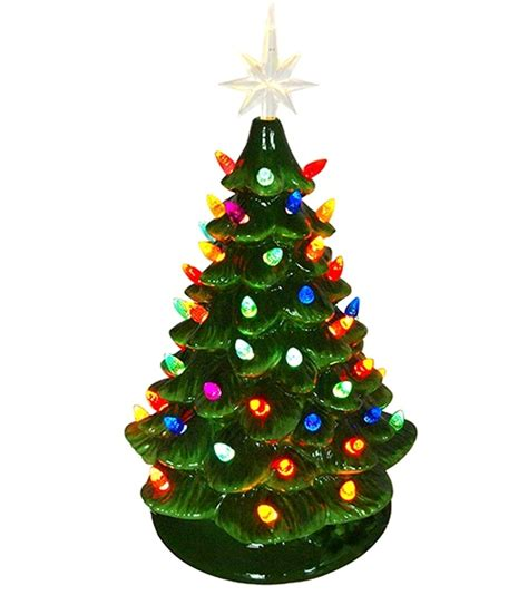 electric christmas trees whos idea was it lighted ceramic tree electric with multi colored lights 16 inch
