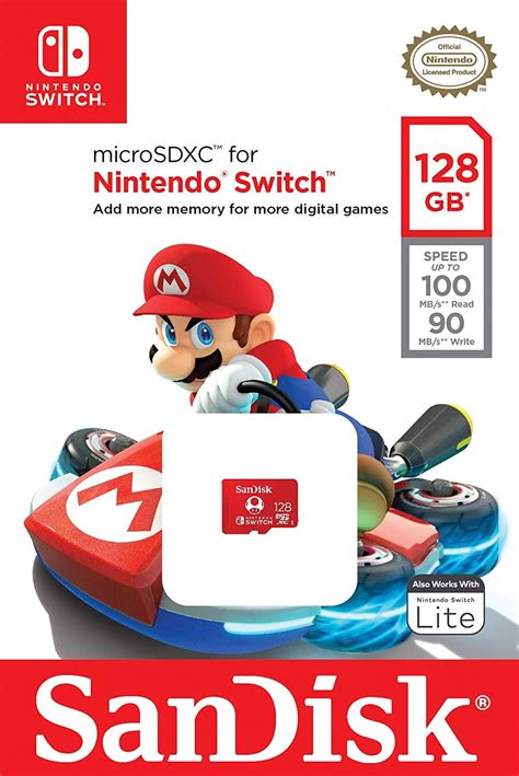 Check spelling or type a new query. SanDisk 128GB Nintendo Licensed Micro SD Card SDXC UHS-I TF Memory Card For Nintendo Switch