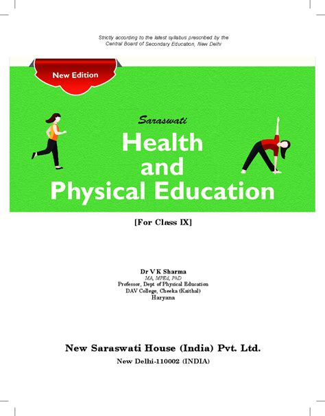 Download Class 9 Health and Physical Education PDF Online 2020