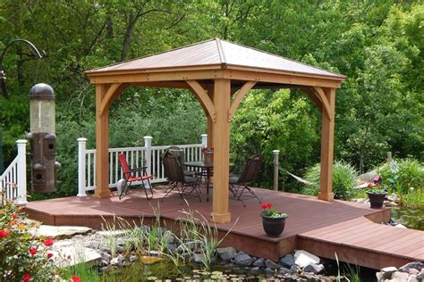 Aluminum Gazebo Yardistry Wood Gazebo With Aluminium Roof