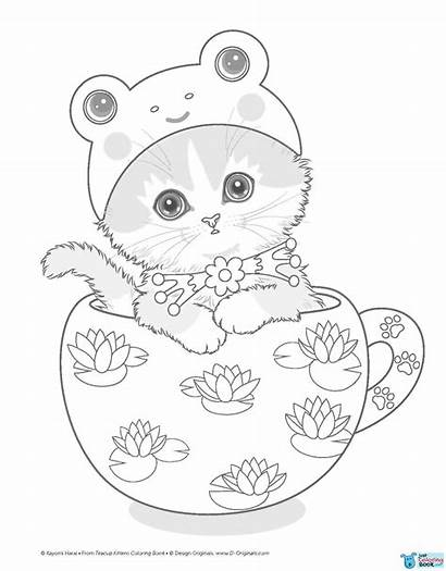 Coloring Angel Kittens Cat Kayomi Harai Teacup