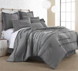 8 piece grey queen comforter set embellished pattern
