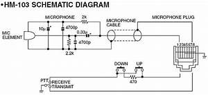 Wiring Diagram For Icom Hm 103 Microphone Schematic