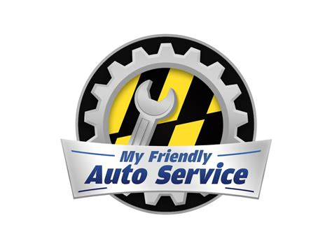 small business logo design for my friendly auto service by justt bluebird design 1164901