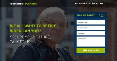 responsive retirement planning template buy landing