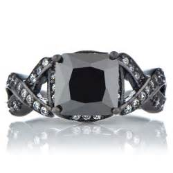 engagement rings black princess cut black black gold ring millicents princess cut black cz engagement ring