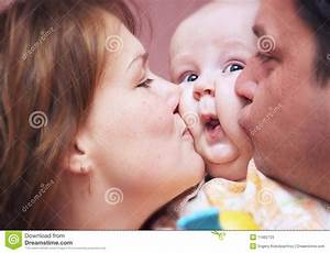 Kissing Family Stock Photos