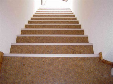 cork flooring on stairs cork mosaic floor tiles modern staircase other metro by design for less