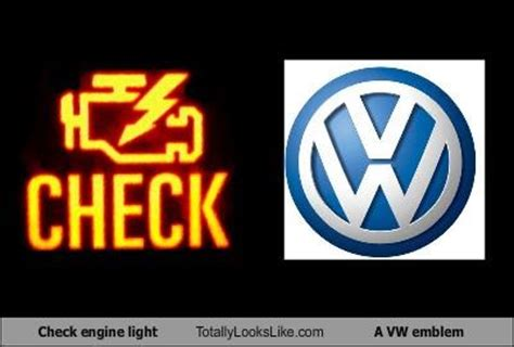 vw check engine light vw check engine light is on car must be running fine