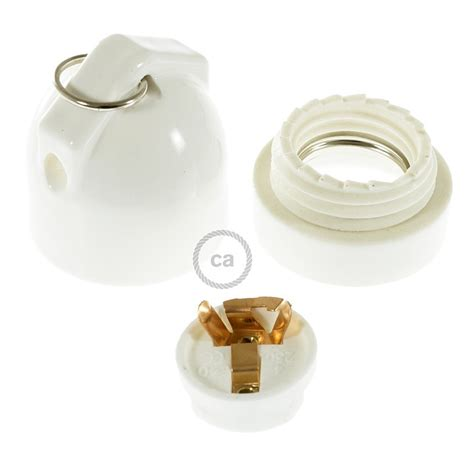 e27 white porcelain side entry bulb holder