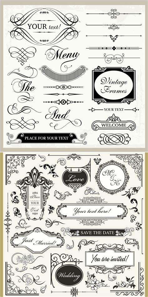 wedding ornaments vintage wedding ornaments vector vector graphics