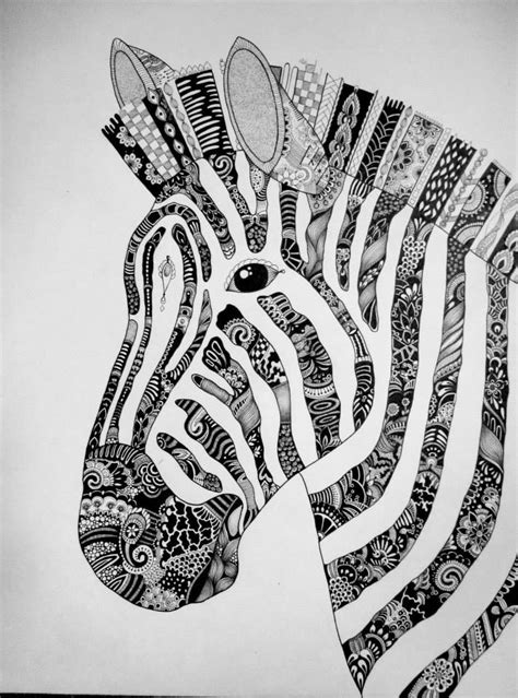 cebra zentangle por bele dibujando