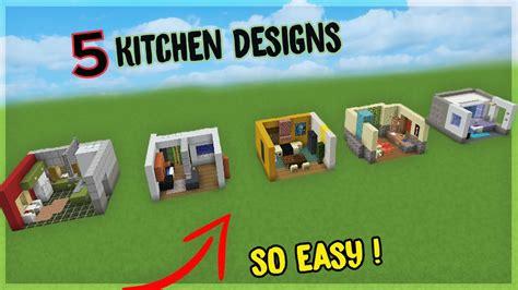 easy kitchen designs minecraft aquatic update youtube