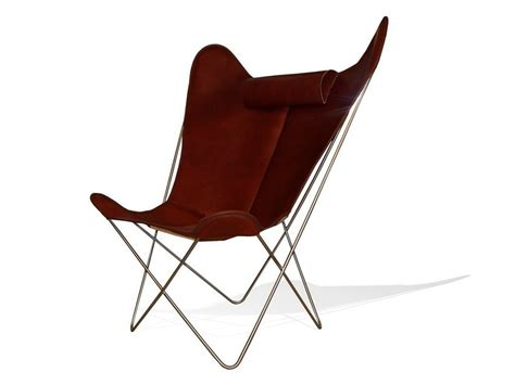 Poltrona In Pelle Con Poggiatesta Hardoy Butterfly Chair